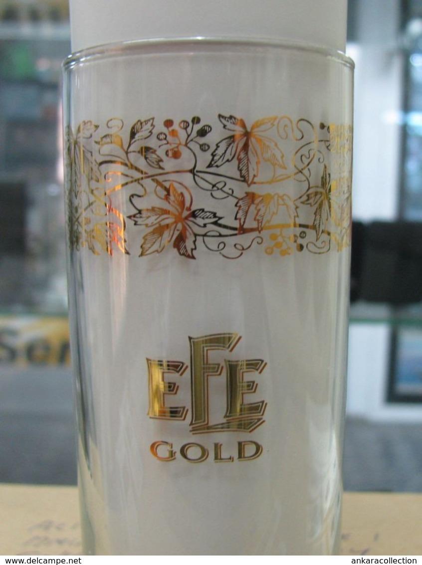 AC - EFE RAKI GOLD GLASS FROM TURKEY - Andere Flessen
