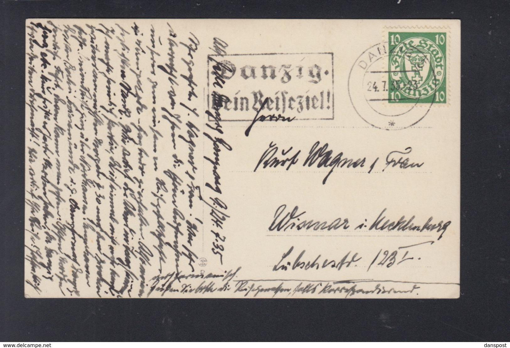 Polen Poland AK Danzig Zoppot 1935 Gelaufen - Danzig