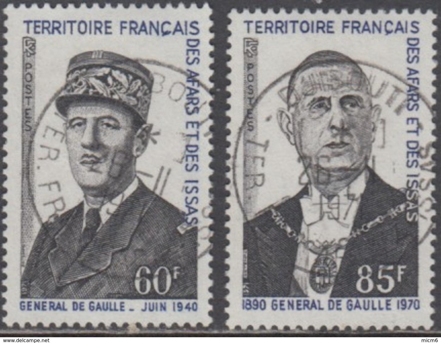 Afars Et Issas (Territoire Des) - N° 375 & 376 (YT) Oblitérés. Belles Oblitérations De Djibouti. - Usados