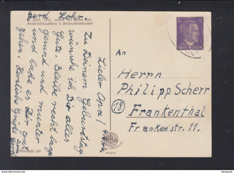 Dt. Reich PK Uboot Heute Wollen Wir Ein Lied Singen 1944 - Weltkrieg 1939-45