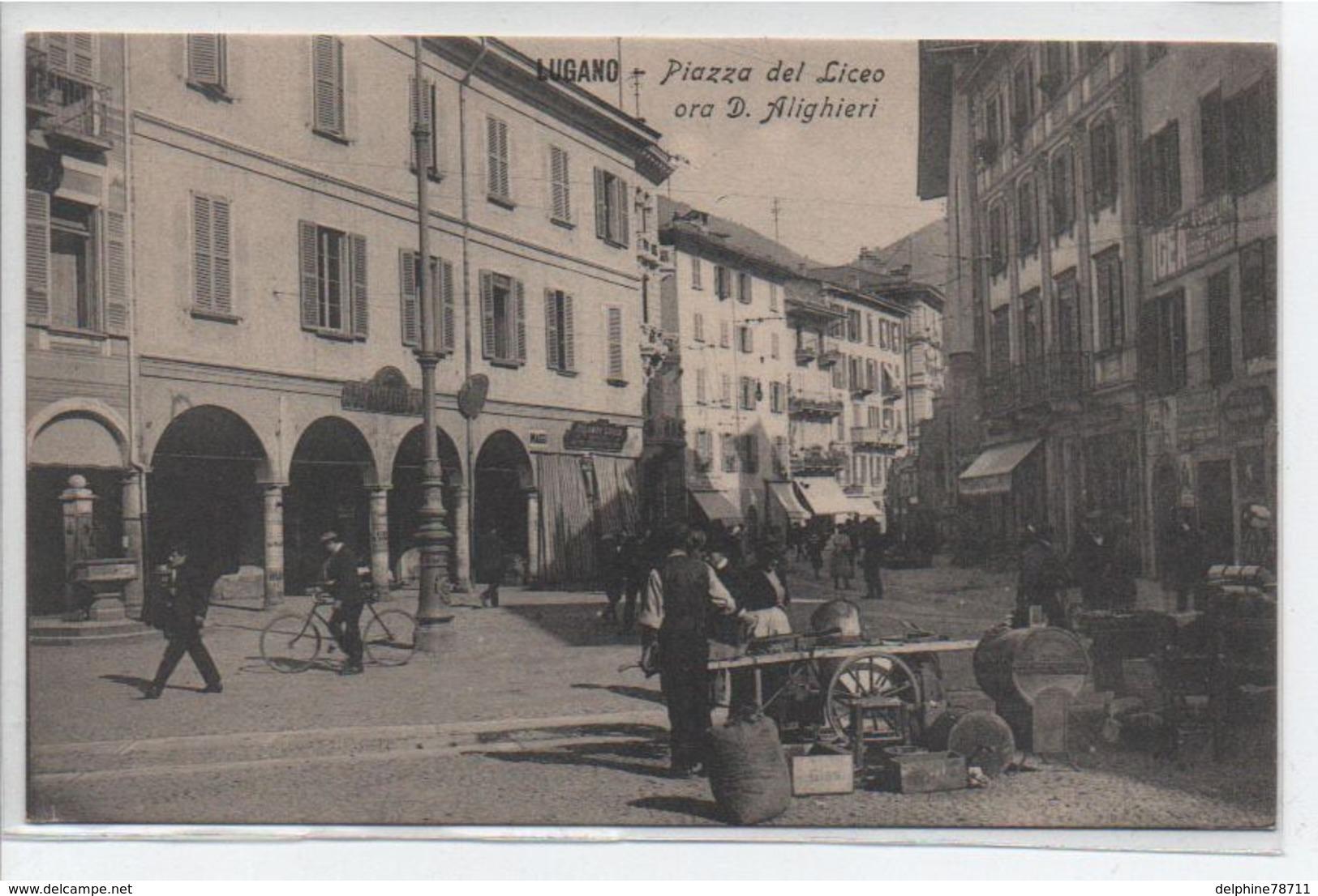 Lugano- Piazza Del Liceo Ora D Alighieri - Switzerland