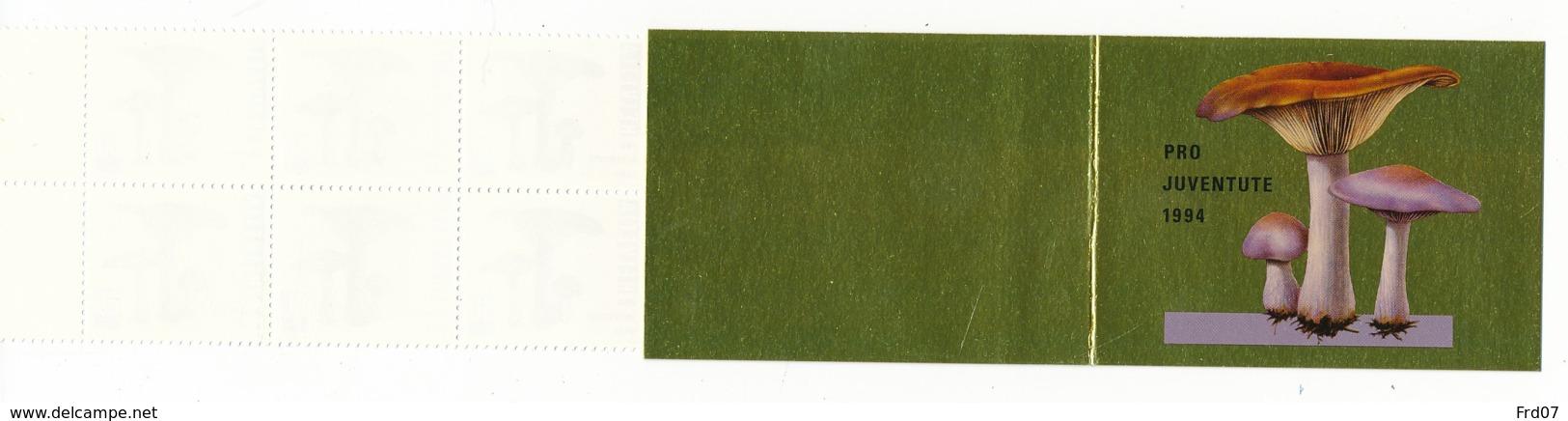 Suisse Carnet C1465 – Pro Juventute 1994 – CHF 10.00 = €9.20 – Champignons - Booklets