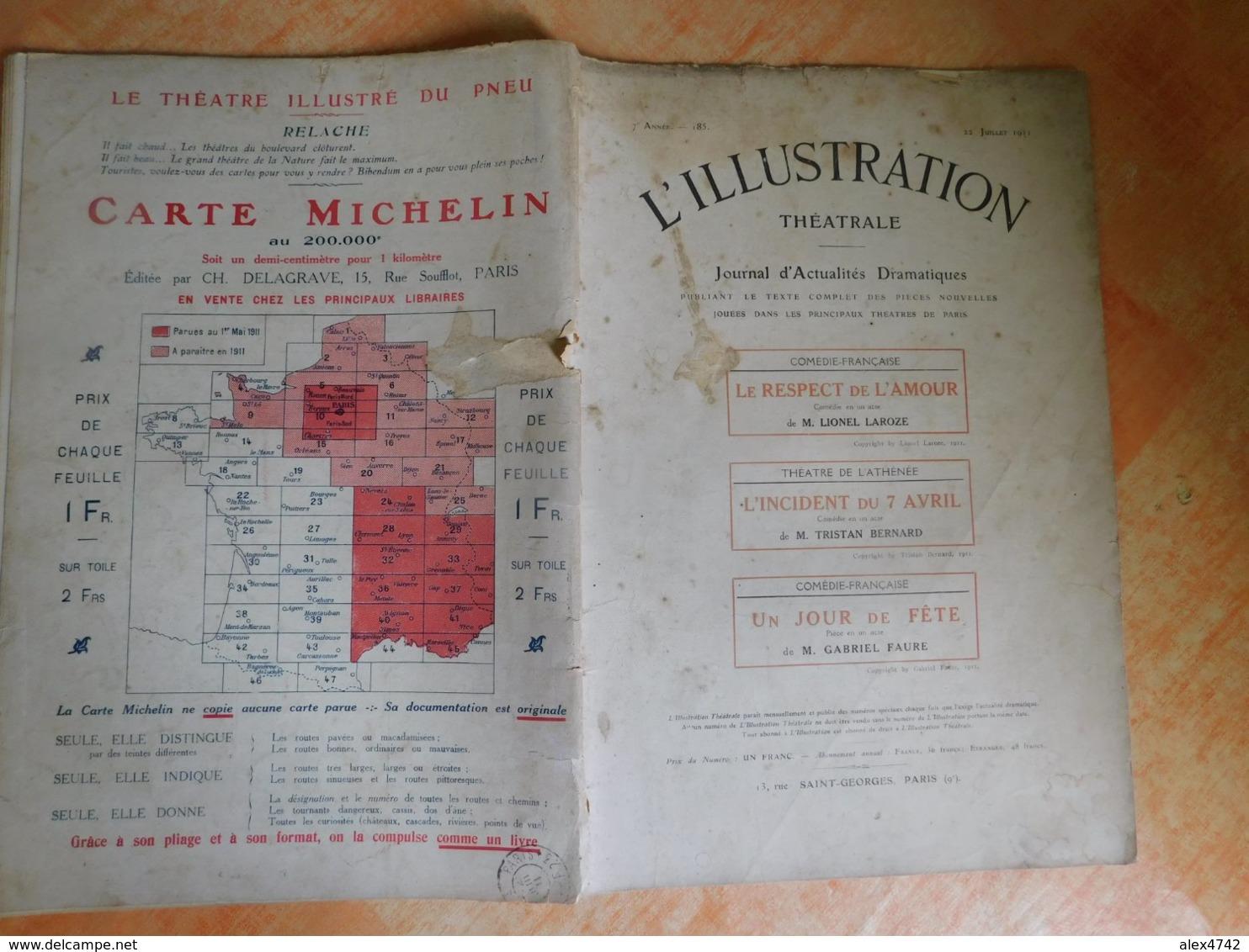 L'illustration, Théatrale, 185, 22/07/1911, Publicité Michelin  (Box5) - Theater