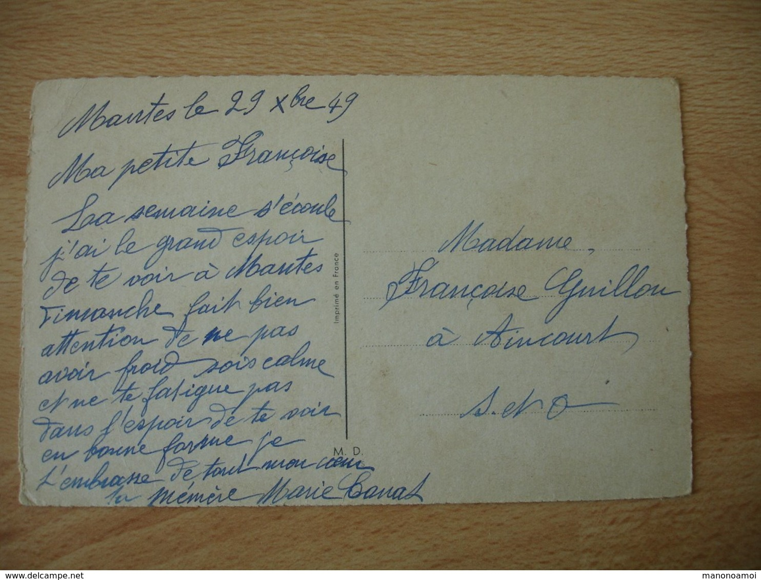 Germaine Bouret Illustrateur J Arrive Un Peu Tot Pour Presenter Mes Voeux 1949 Edi M D - Bouret, Germaine