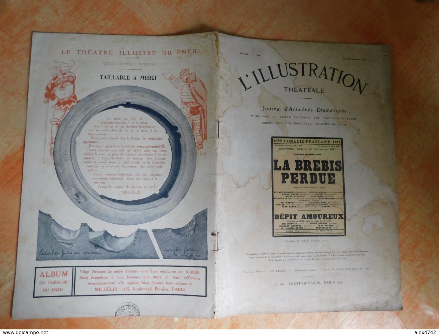 L'illustration, Théatrale, 194, 25/11/1911, Publicité Michelin  (Box5) - Autres