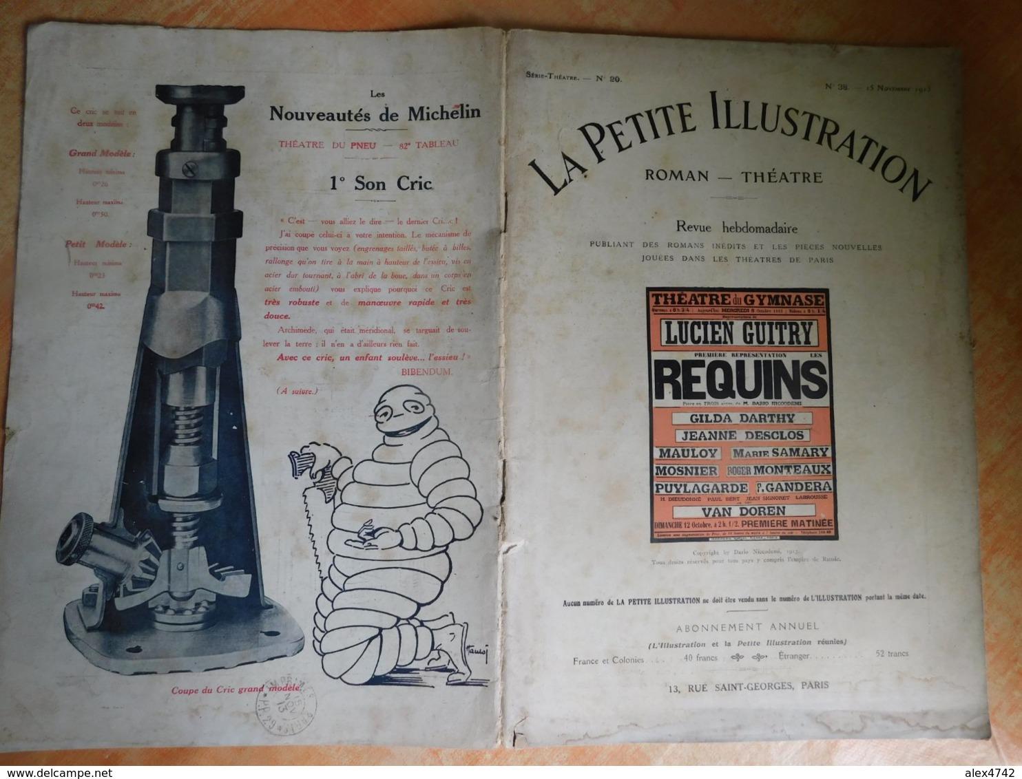 La Petite Illustration, Roman - Théatre, 20, 15/11/1913, Publicité Michelin  (Box5) - Theater