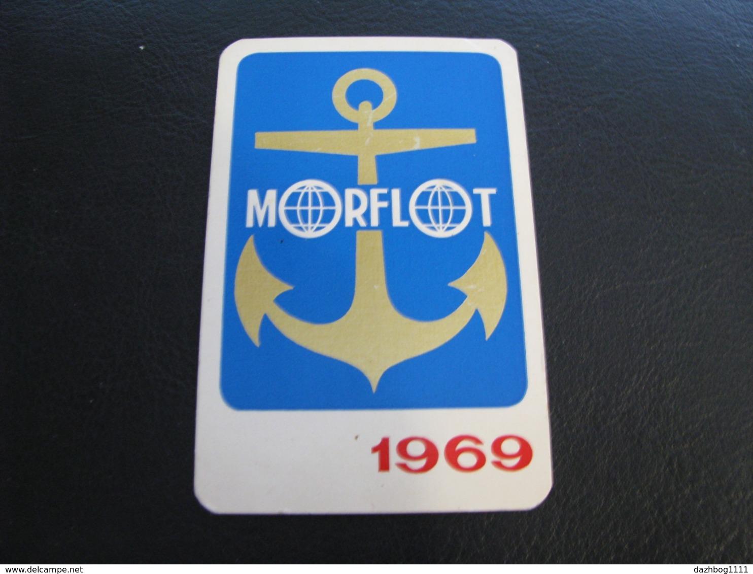 USSR Soviet Russia  Pocket Calendar Morflot  Ship 1969 Rare - Calendars