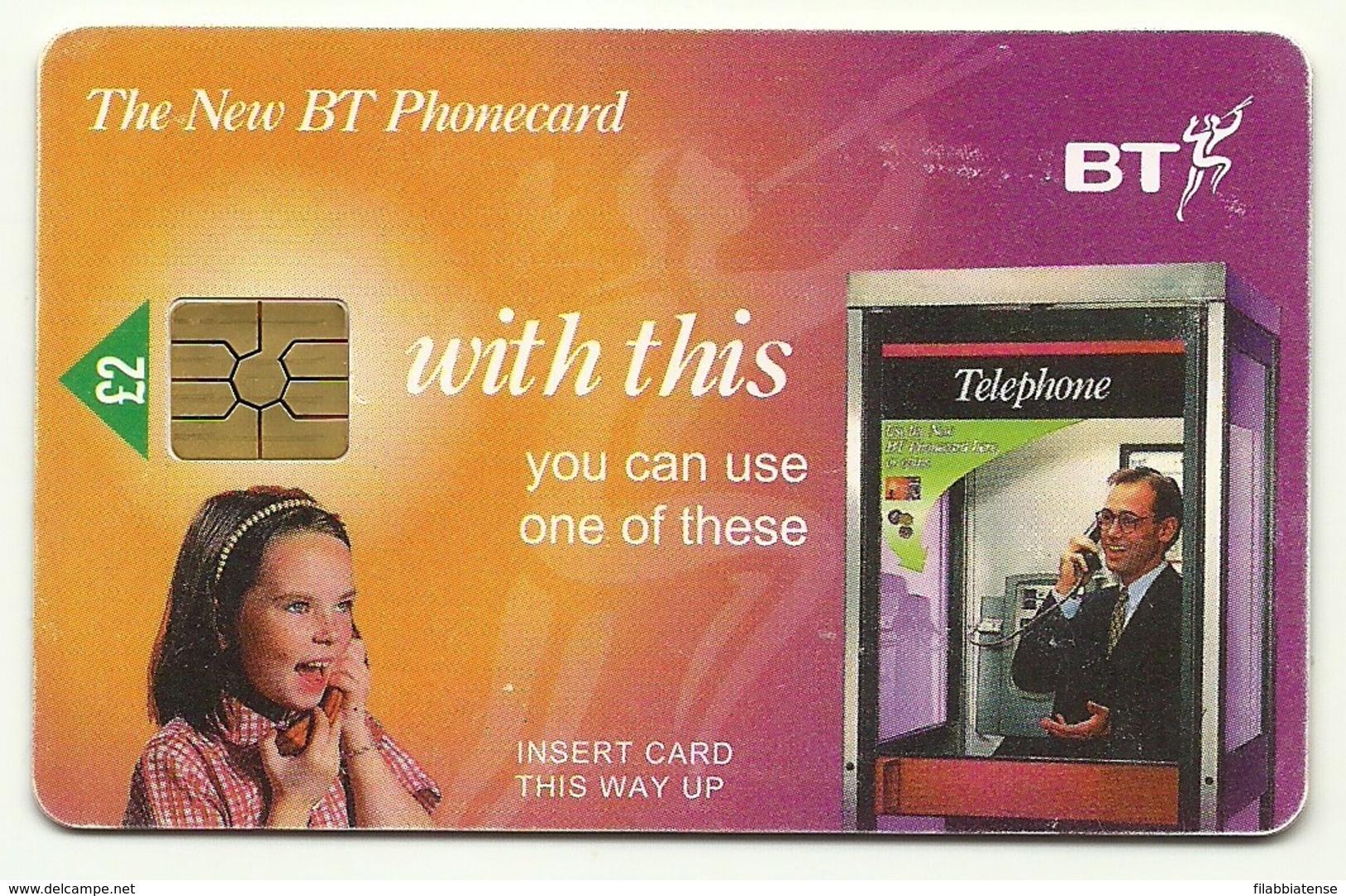 Gran Bretagna - Tessera Telefonica Della Gran Bretagna Da 2 Pounds - T640 - Telefoni