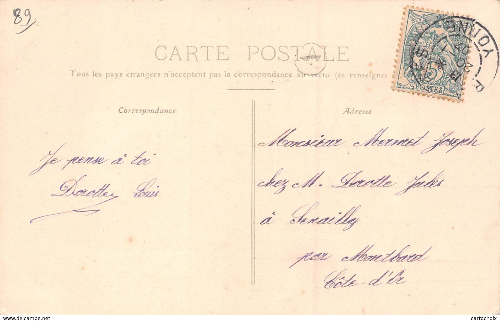 89 - Avallon - La Grande-Rue Animée - ( Soieries-confections ) - Avallon