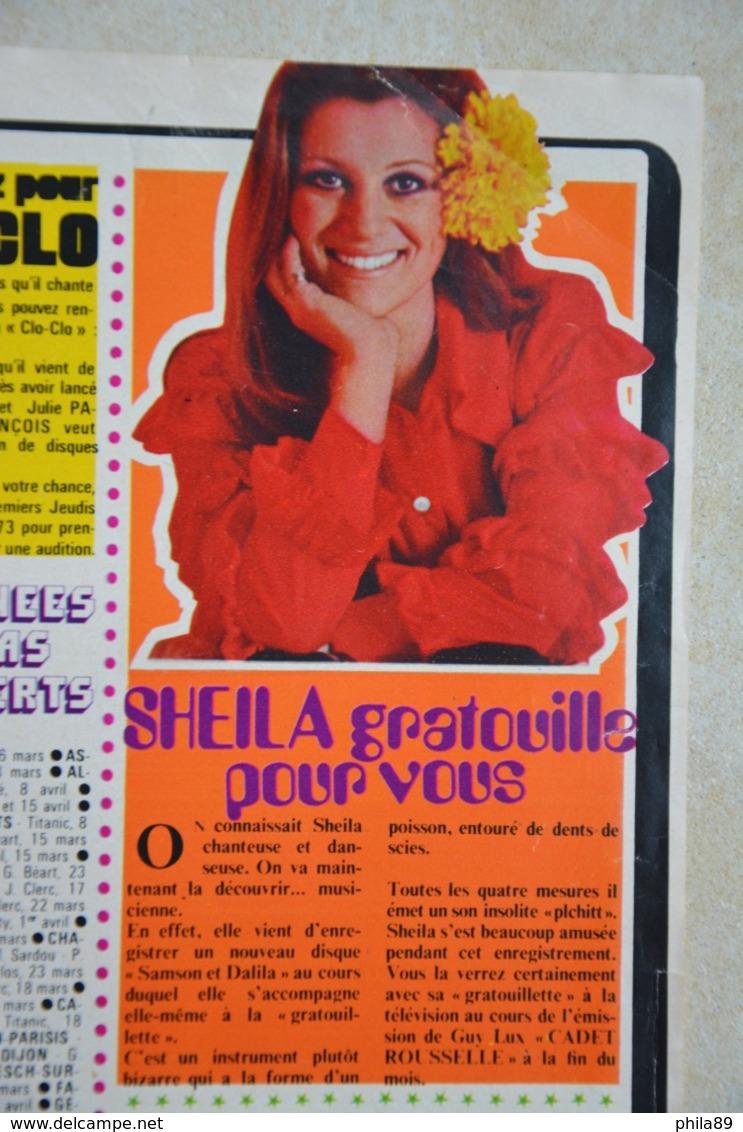 """Double Page De HIT- Mick JAGGER-au Dos """"Sheila Gratouille Pour Vous-voir Scans - Plakate & Poster"""