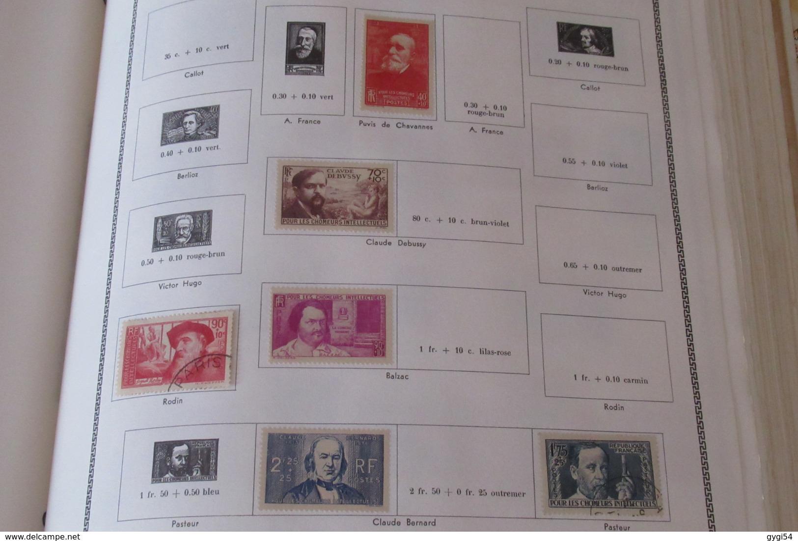 France 1849 - 1965  Lot Classiques ,  , Orphelins, Hommes Célèbres  Poste Aérienne 88 Scans - Stamps