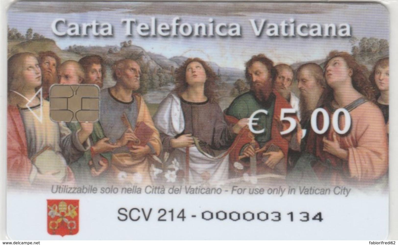 PHONE CARD VATICANO SCV214 TRASFIGURAZIONE RAFFAELLO (NEW BUT PRINTED WITHOUT BLISTER) - Vaticano