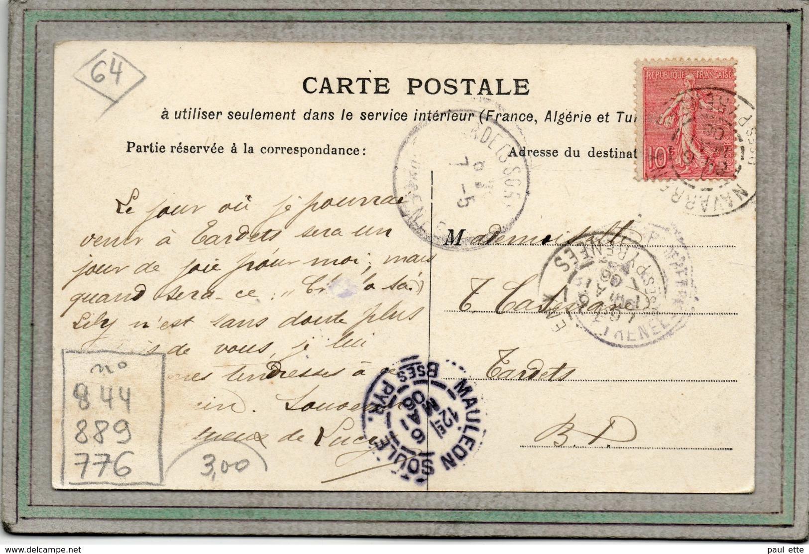 CPA - NAVARRENC (64) - Aspect De L'Usine électrique Et Du Pont Sur Le Gave D'Oloron En 1906 - Andere Gemeenten