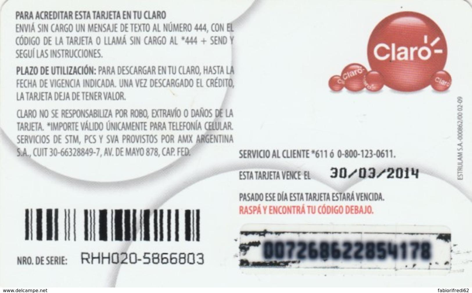 PREPAID PHONE CARD ARGENTINA-CLARO (PK126 - Argentina