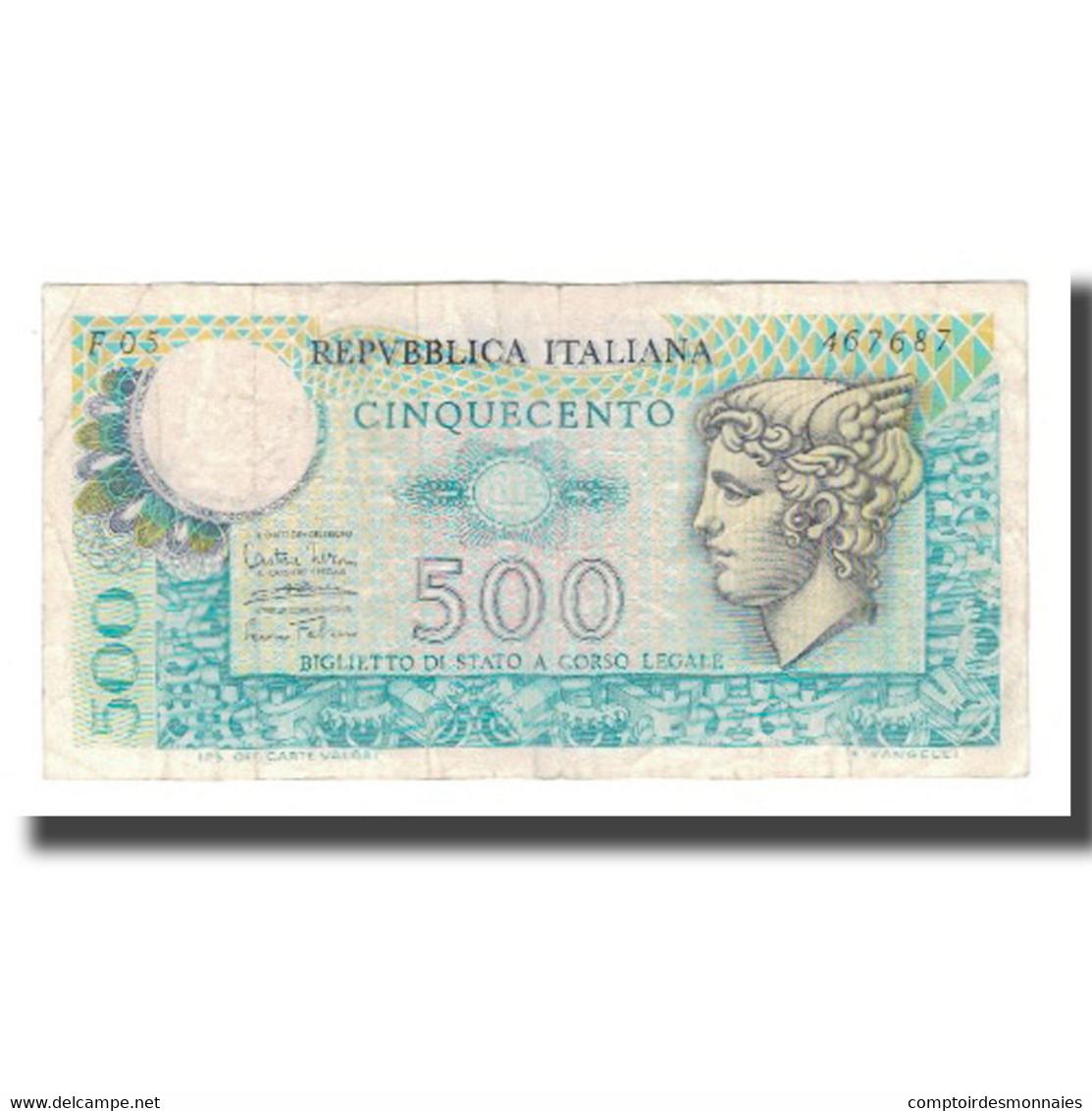 Billet, Italie, 500 Lire, 1974, 1974-02-14, KM:94, TTB+ - [ 2] 1946-… : Repubblica