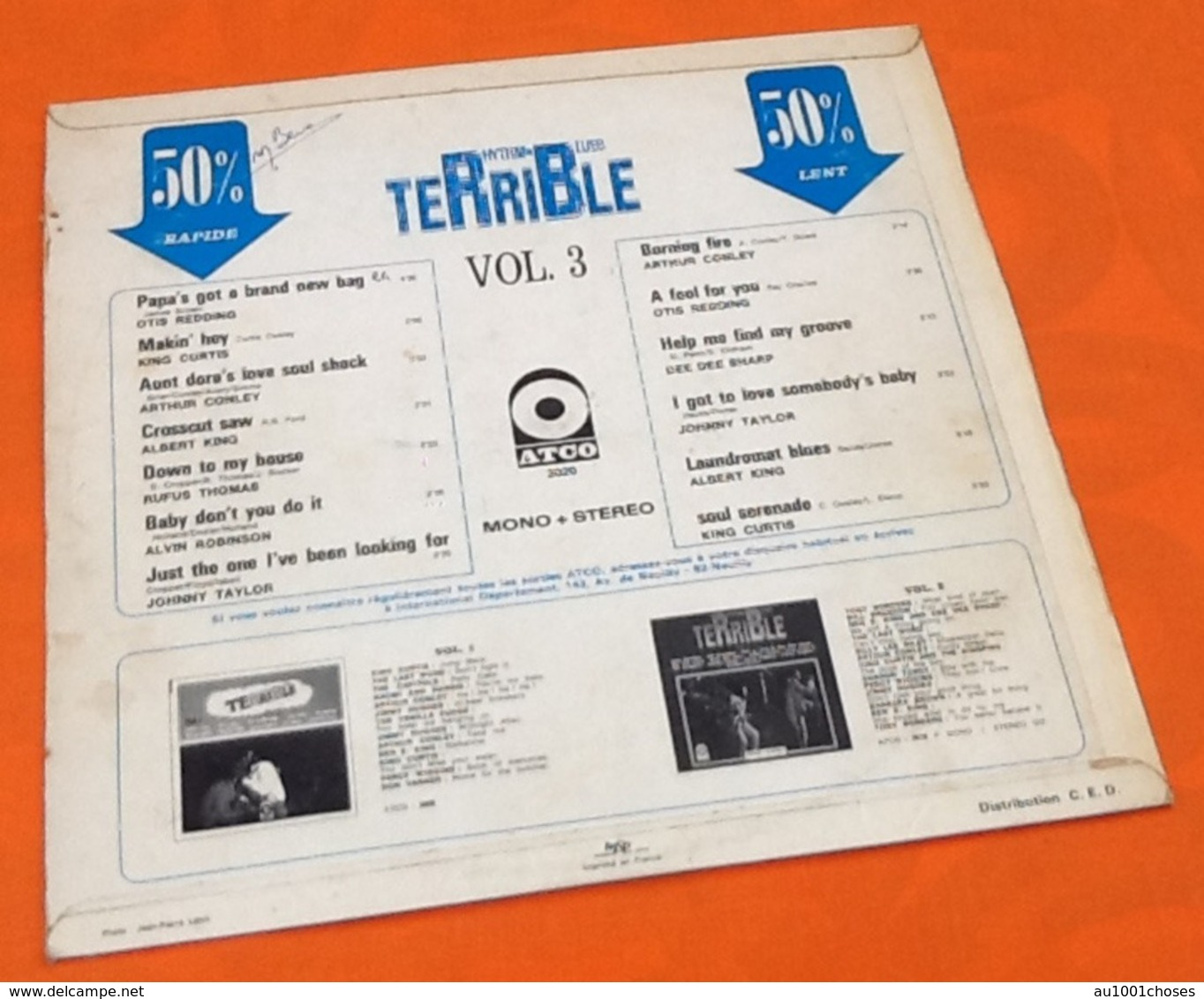 Vinyle 33 Tours Terrible Rhythm And Blues Vol.3 (1969) - Blues