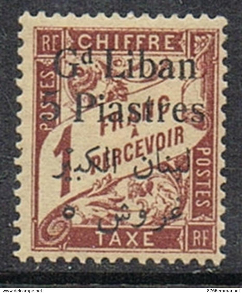 GRAND LIBAN TAXE N°10 N* - Gran Libano (1924-1945)