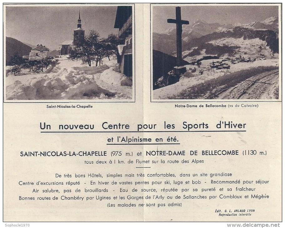 RHONE ALPES - 73 - SAVOIE - Plaquette - SAINT NICOLAS LA CHAPELLE - NOTRE DAME DE BELLECOMBE - Vieux Papiers