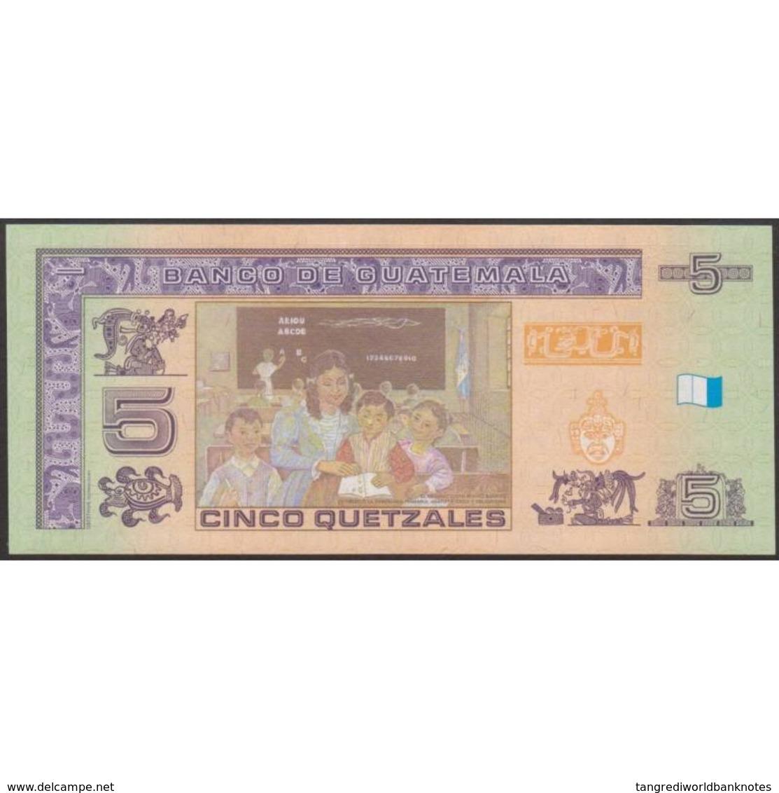 TWN - GUATEMALA 116 - 5 Quetzales 12.3.2008 C XXXXXXX D - Printer: OBERTHUR TECHNOLOGIES UNC - Guatemala