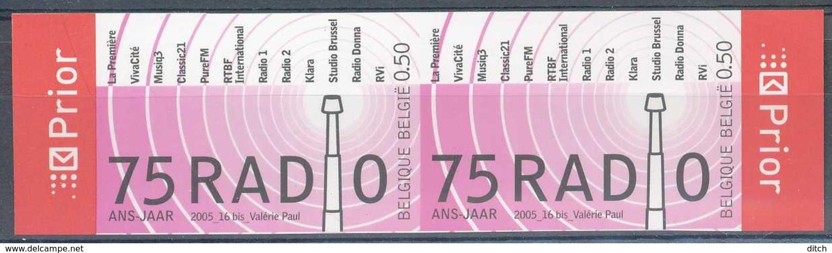 D - [54668]SUP//ND/Imperf-c:20e-N° 3415, 75ans De La Radio. En Paire. - Belgien