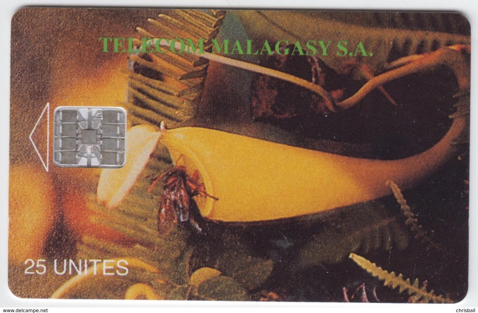 Madagascar- Malagasy -  Phonecard - Superb Fine Used Pitcher Plant - Madagaskar