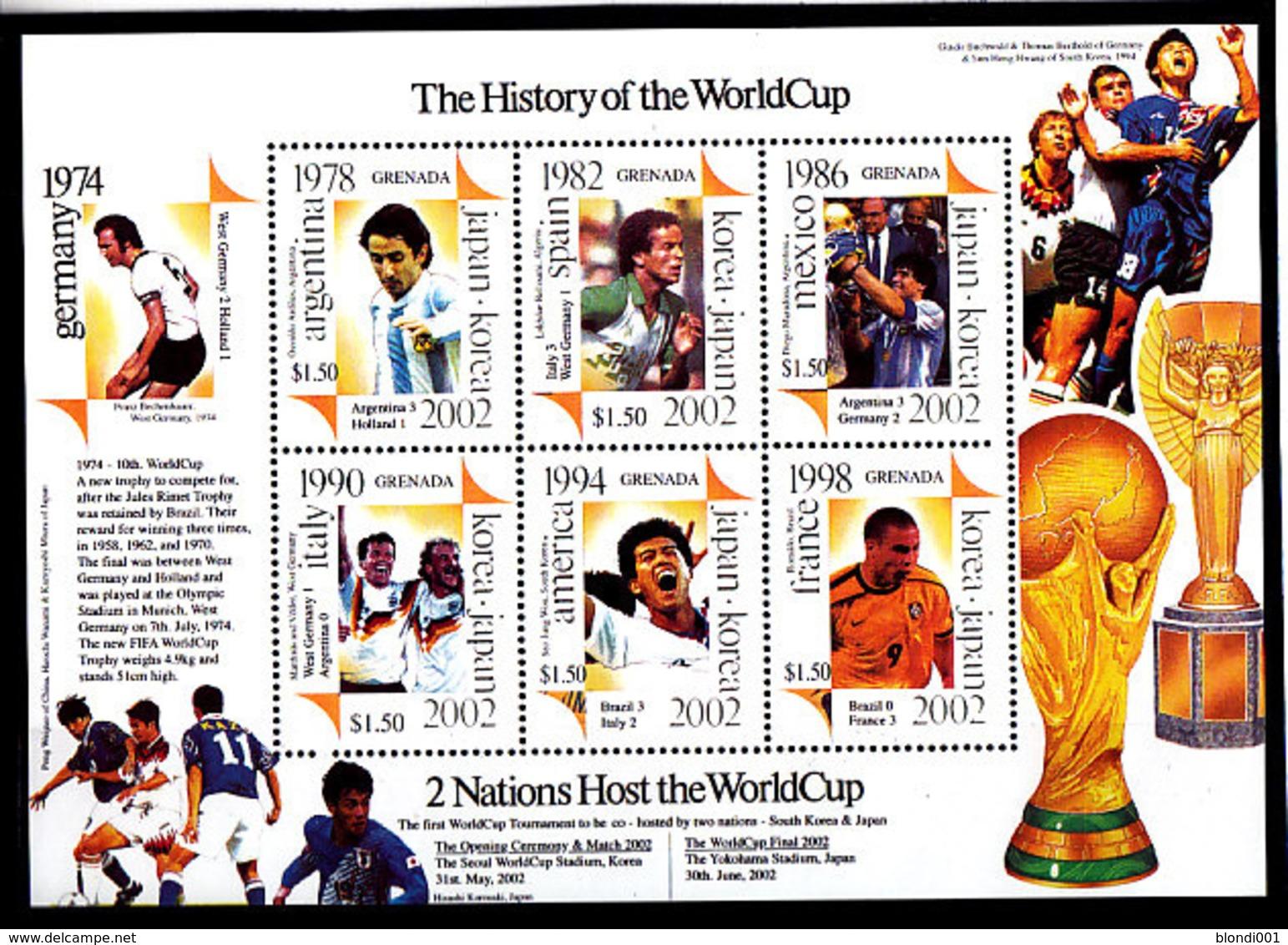 Soccer World Cup 2002 - GRENADA - Sheet MNH - Wereldkampioenschap