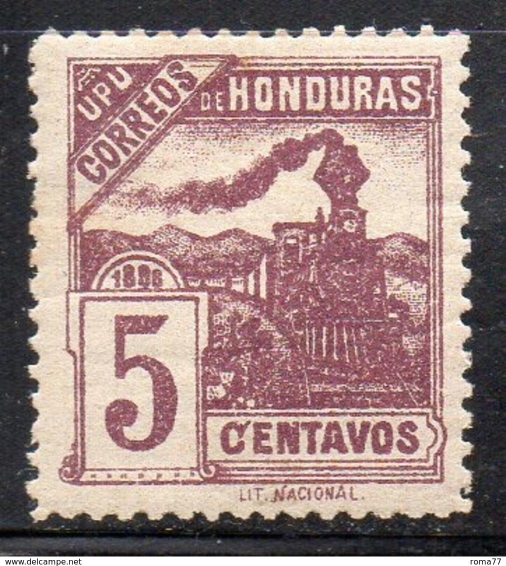 APR2899 - HONDURAS 1898 , Yvert N. 86a  *  Linguella (2380A) Brunolilla - Honduras