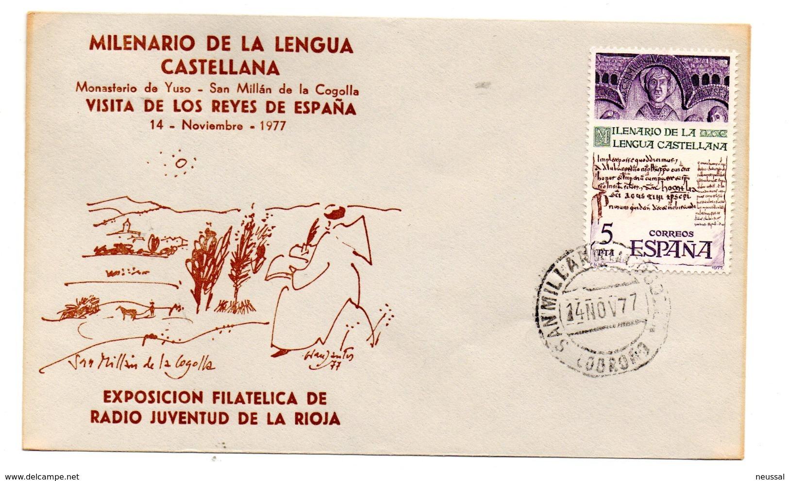 Carta Con Matasellos Commemorativo Milenario De La Lengua Castellana. - 1931-Hoy: 2ª República - ... Juan Carlos I