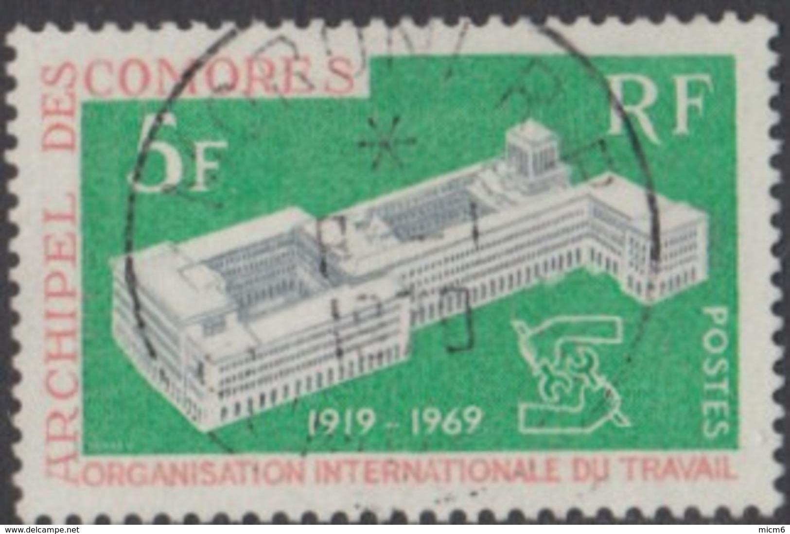 Comores (Archipel Des) - N° 55 (YT) N° 56 (AM) Oblitéré De Moroni RP. - Isla Comoro (1950-1975)