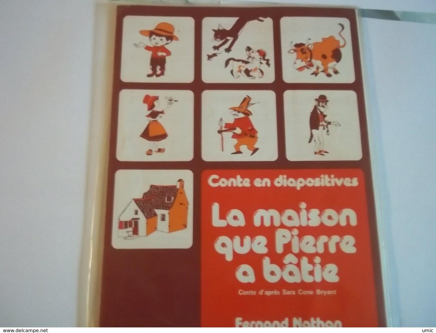 12 Diapositives Thème Conte La Maison Que Pierre A Batie - Dias