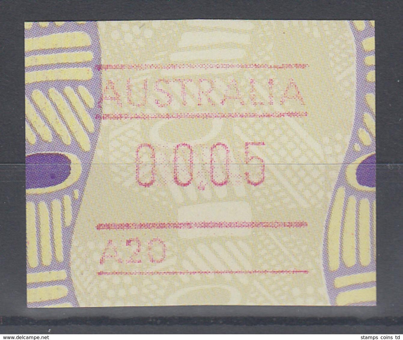 Australien Frama-ATM Aboriginal-Art Mit Automatennummer A20 ** - Vignette Di Affrancatura (ATM/Frama)