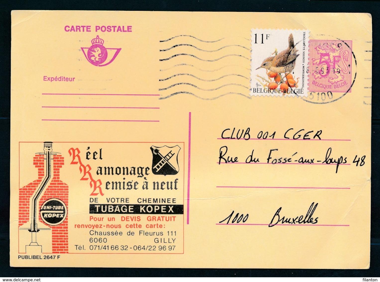 PUBLIBEL Nr 2647F - Ramonage Cheminée TUBAGE KOPEX - Stamped Stationery