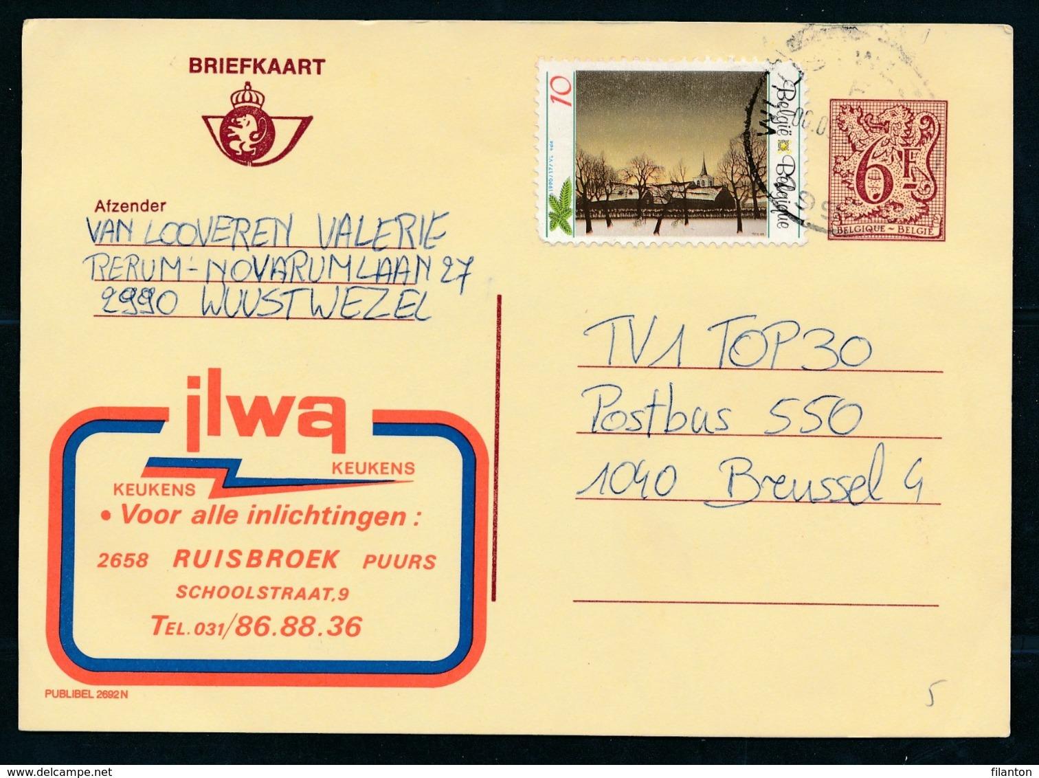 PUBLIBEL Nr 2692N - ILWA Keukens - Enteros Postales
