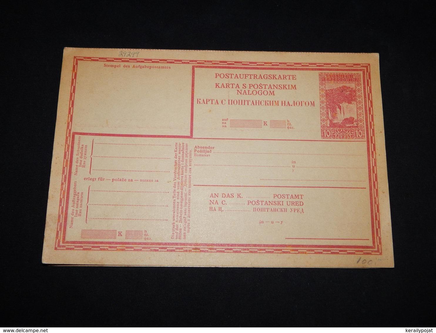 Bosnia Hertsegovina 10h Red Unused Stationery Card__(L-29299) - Bosnia Erzegovina
