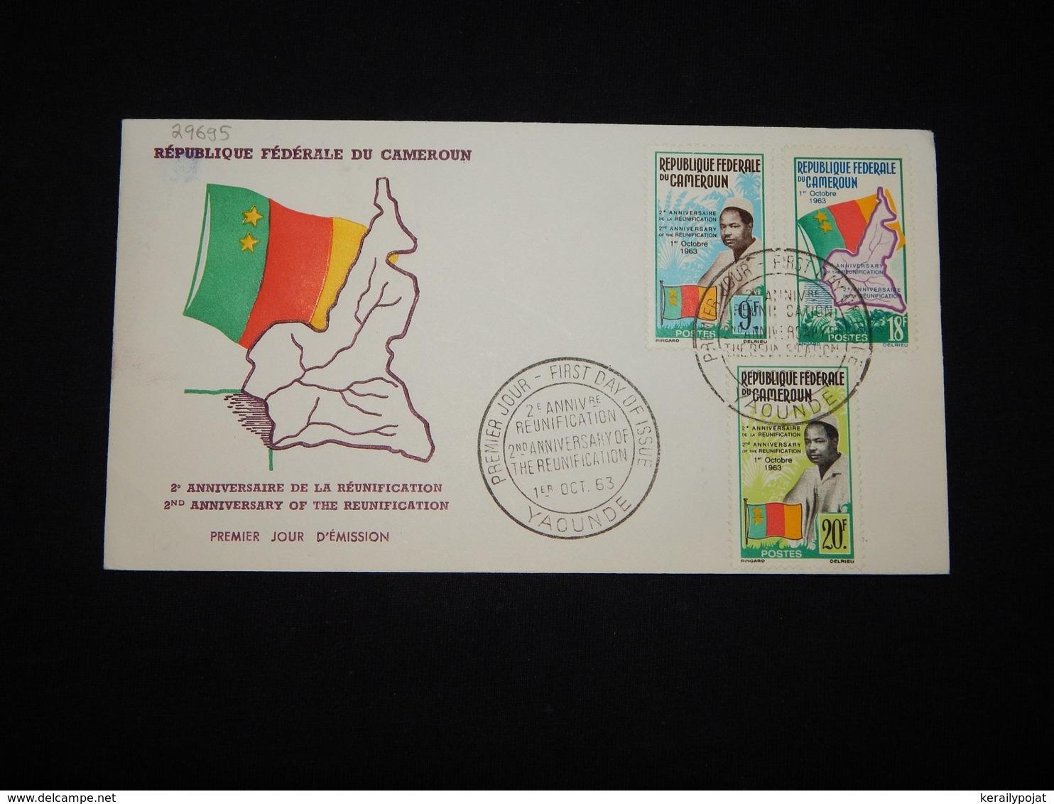 Cameroon 1963 Reunification FDC__(L-29695) - Kamerun (1960-...)