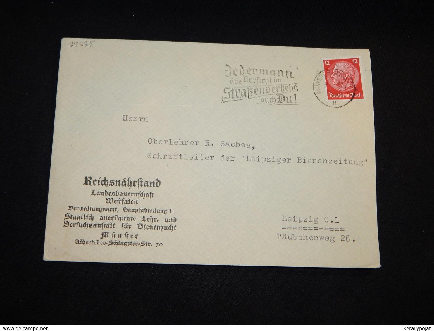 Germany 1937 Munster Reichsnährstand Business Cover__(L-29225) - Briefe U. Dokumente