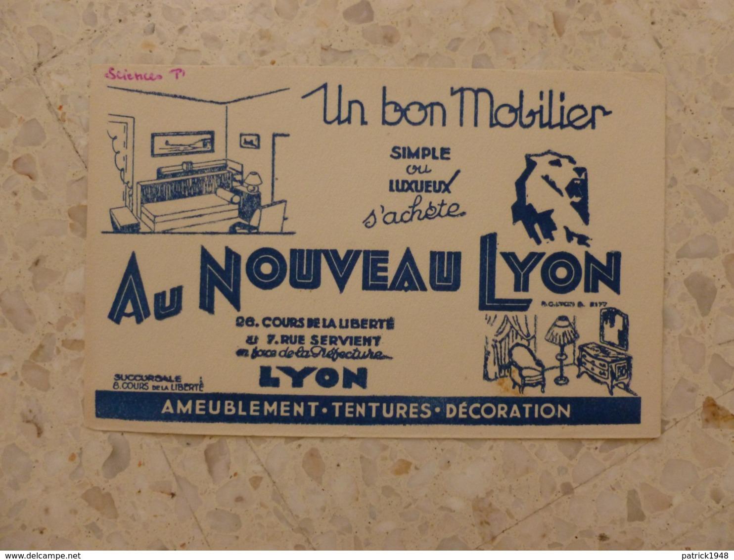 BUVARD AU NOUVEAU LYON MOBILIER - Carte Assorbenti