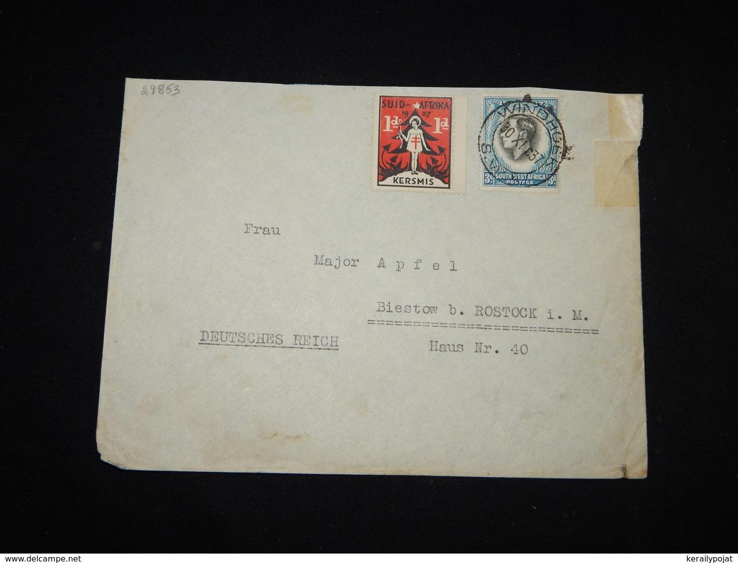 South West Africa 1937 Windhoek Cover To Germany__(L-29853) - Südwestafrika (1923-1990)