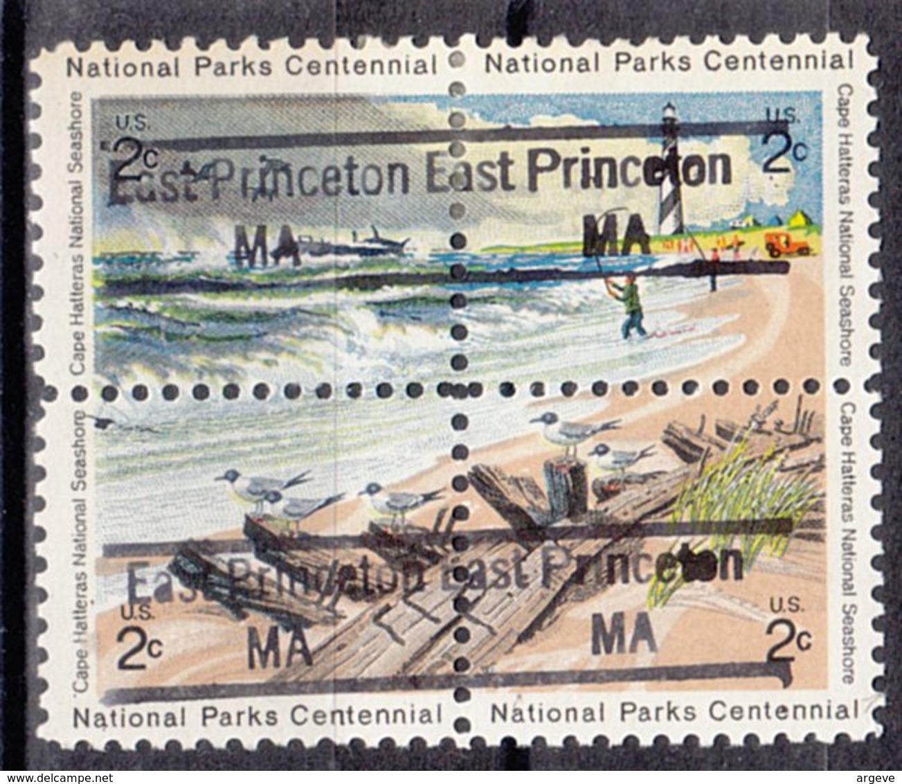 USA Precancel Vorausentwertung Preo, Locals Massachusetts, East Princeton 843, Hatteras Block - Vereinigte Staaten