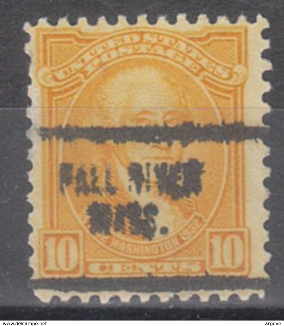USA Precancel Vorausentwertung Preo, Locals Massachusetts, Fall River 704 - Vorausentwertungen