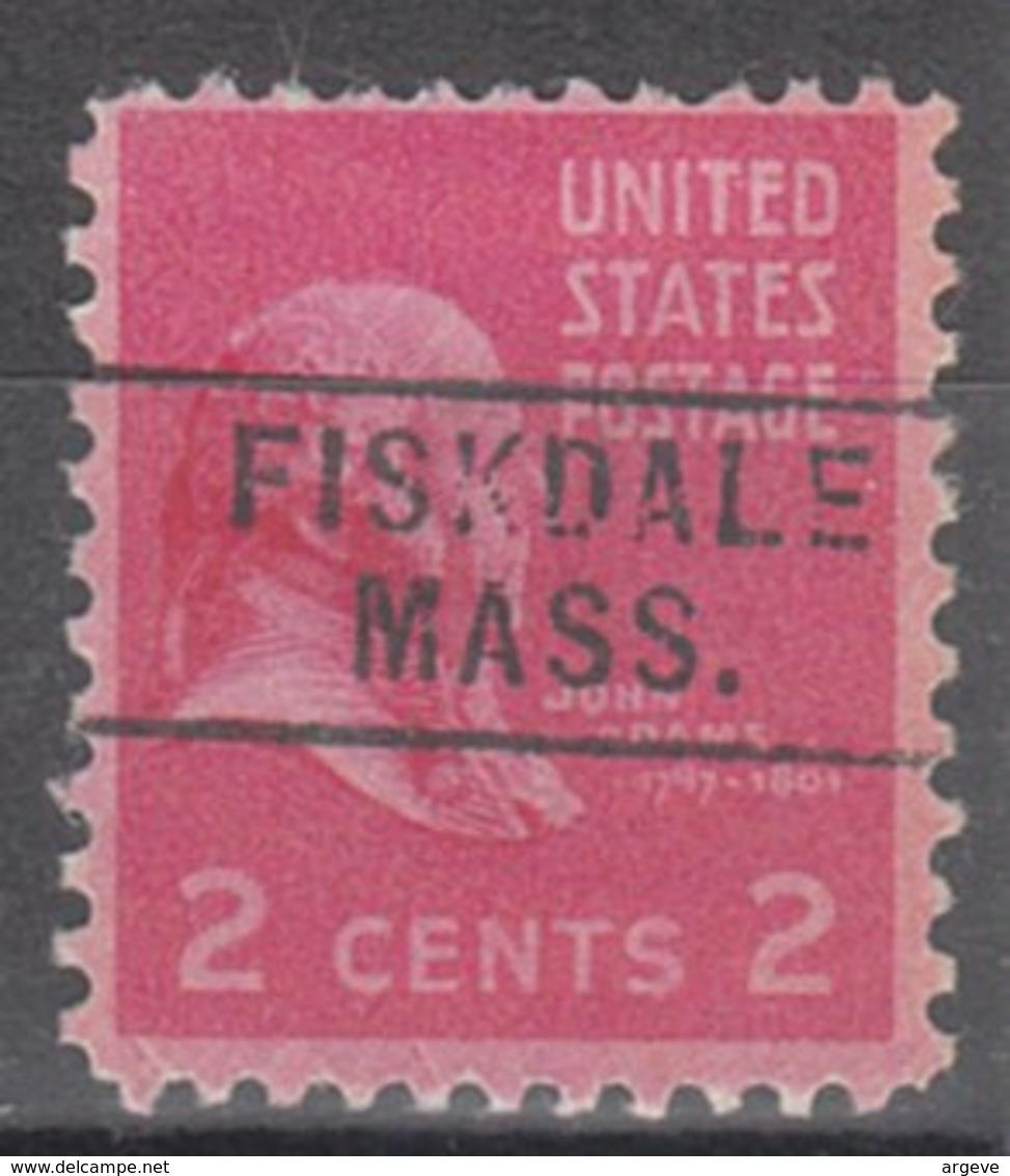 USA Precancel Vorausentwertung Preo, Locals Massachusetts, Fiskdale 745 - Vereinigte Staaten