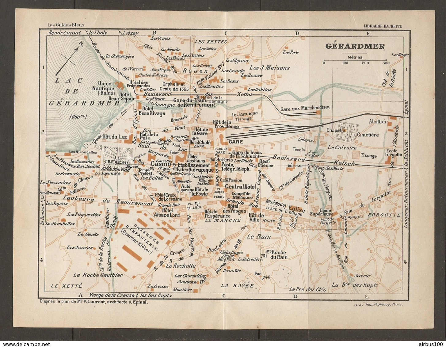 CARTE PLAN 1927 - GERARDMER LE TREXEAU LES XETTES FORGOTTE LA RAVEE LES 3 MAISONS CASINO - Topographical Maps
