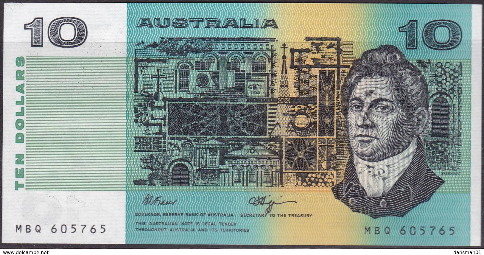 Australia $10 Fraser - Higgins Uncirculated MBQ605765 - Decimal Government Issues 1966-...