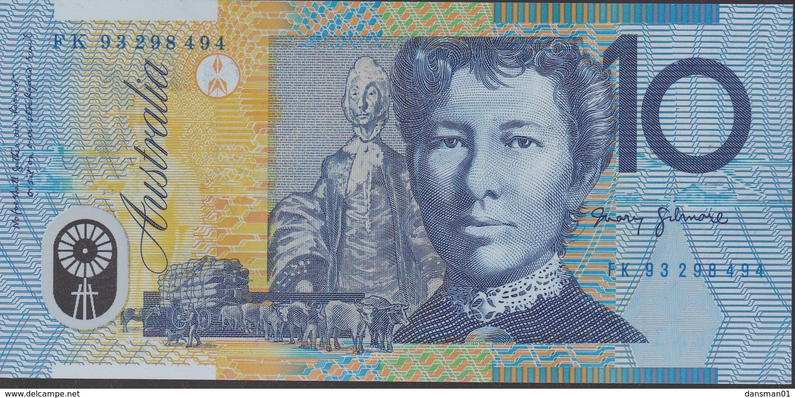 Australia 1993 Polymer $10 FK 93298494 Uncirculated - Dezimale Regierungsausgaben 1966-...