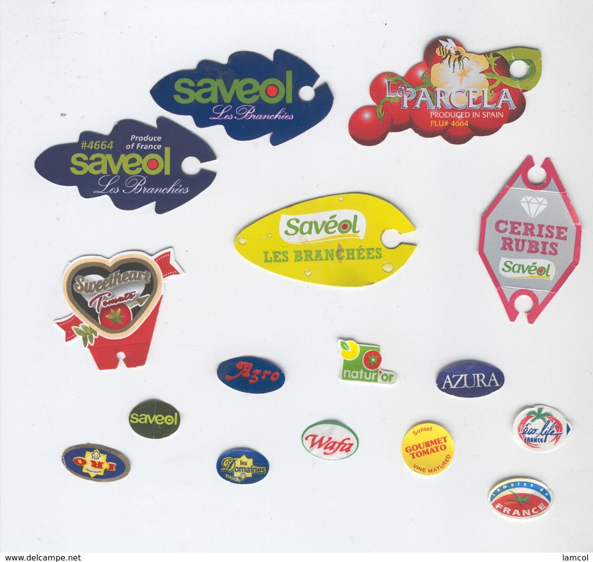 Etiquettes De Fruits : Tomates Lot 5 - Fruit Labels Tomatoes Lot # 5 - Fruits & Vegetables