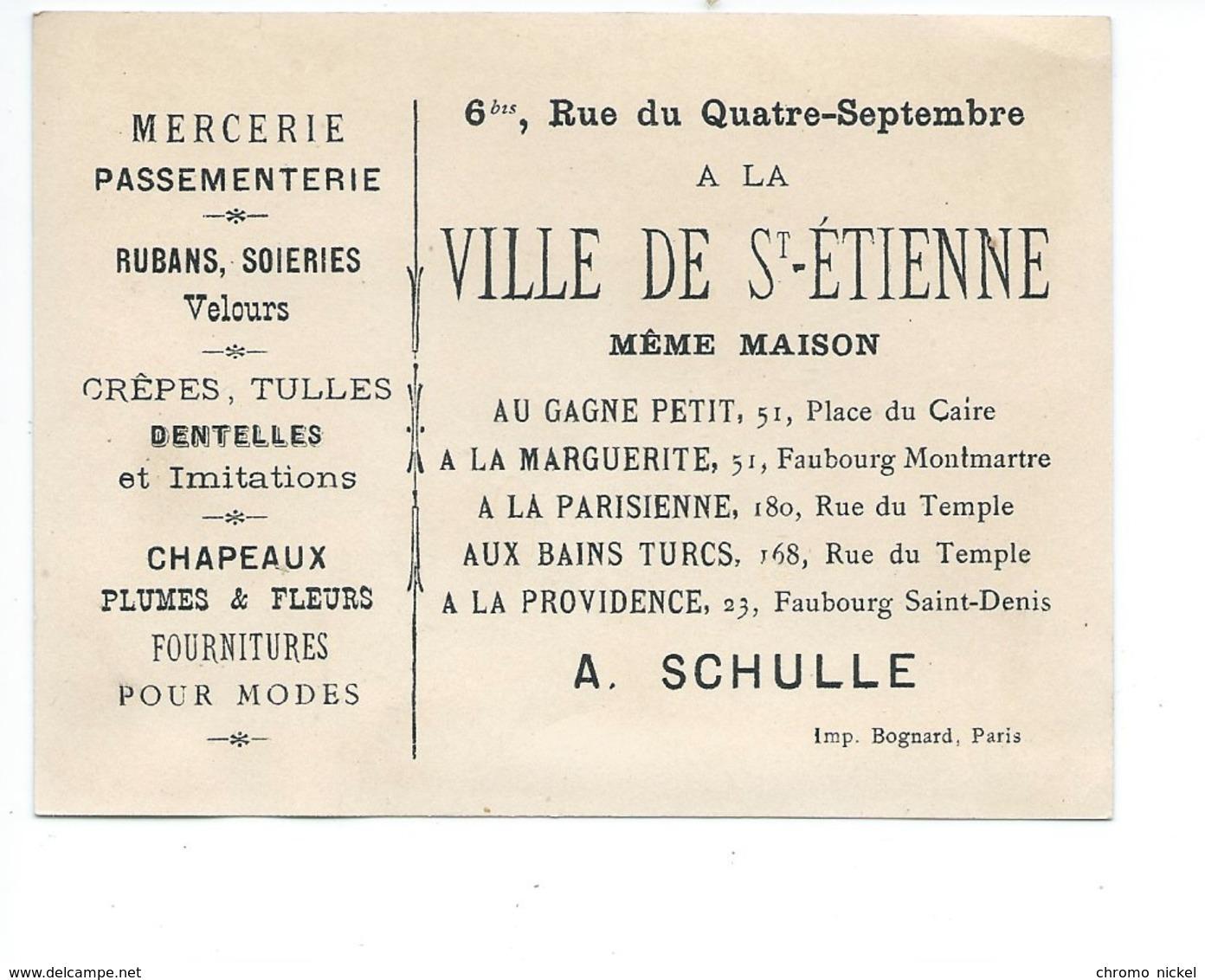 Chromo HAUTES ALPES Département Carte Géographique Pub: A La Ville De Saint Etienne TB Voir 2 Scans - Chromos