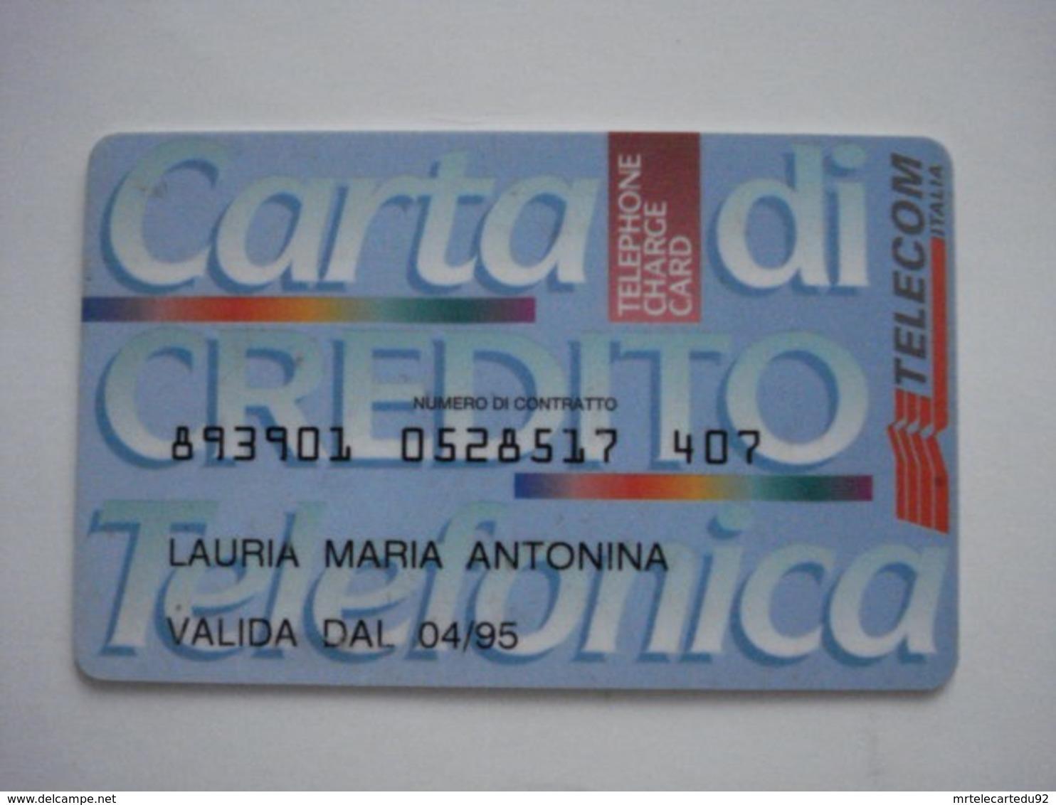 Carte Prépayée étrangère à Identifier (utilisée). Très Rare, Carte Personnel. - Per Cellulari (ricariche)