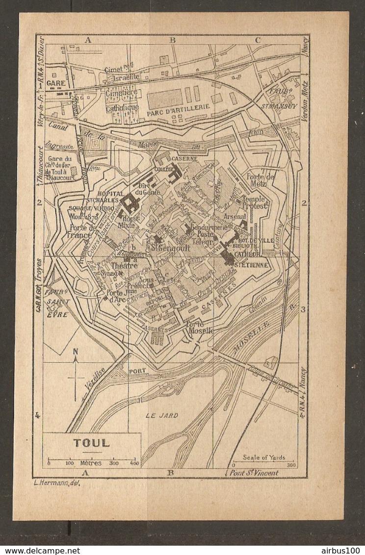 CARTE PLAN 1928 - TOUL PARC D'ARTILLERIE CASERNES LE JARD St MANSUY GARES - Topographical Maps