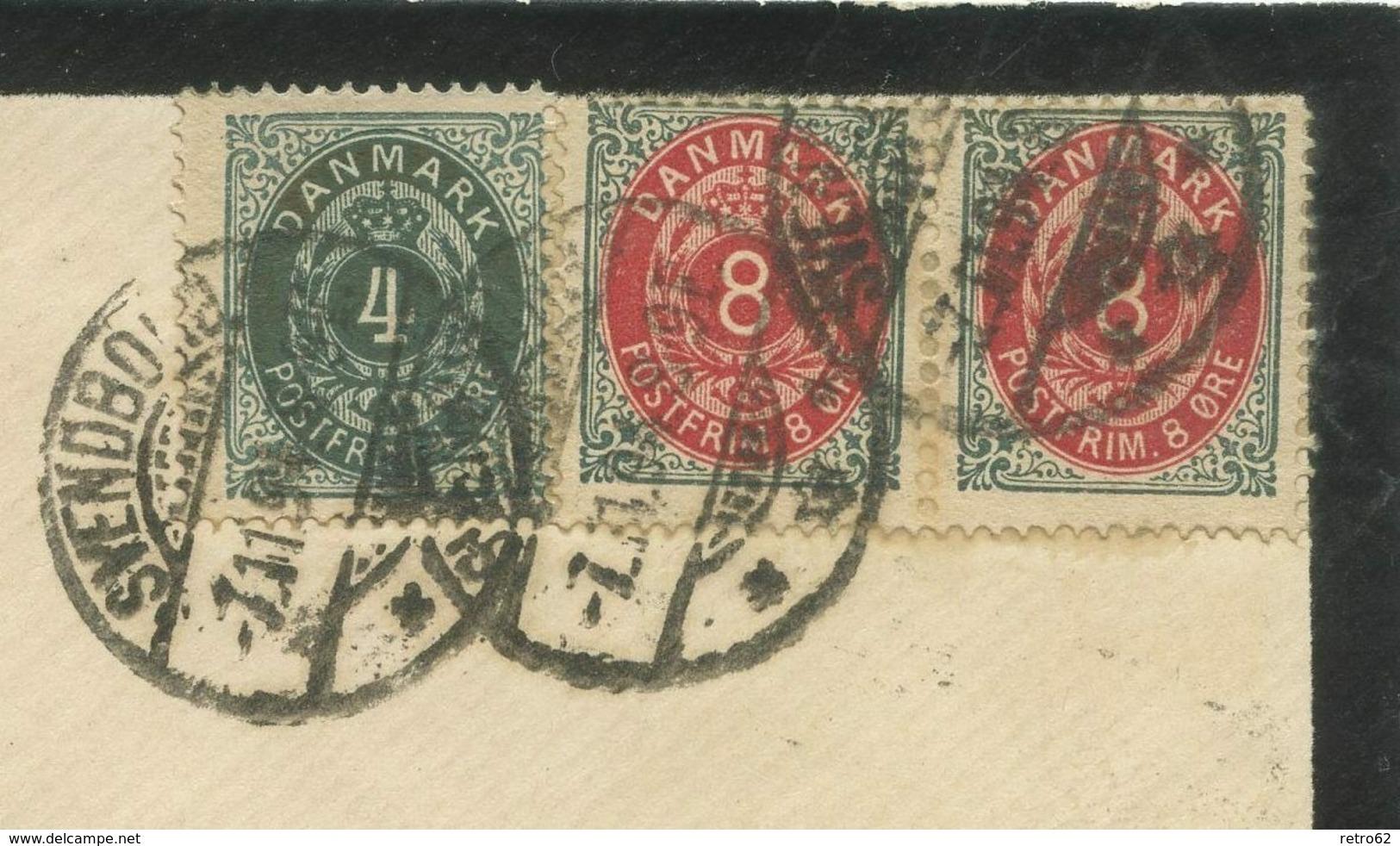 1894  Dänemark Brief Svendborg Berlin - 1864-04 (Christian IX)