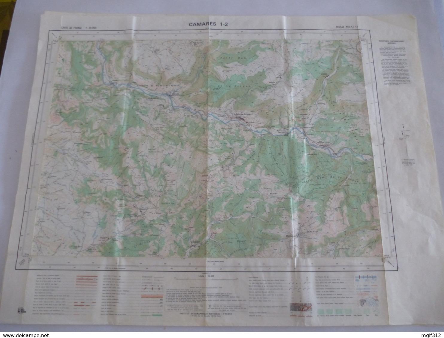 CAMARES (12) CARTES  IGN Au 1/25000 - Feuille 1/2 - Détails Voir Les Scans - Topographical Maps